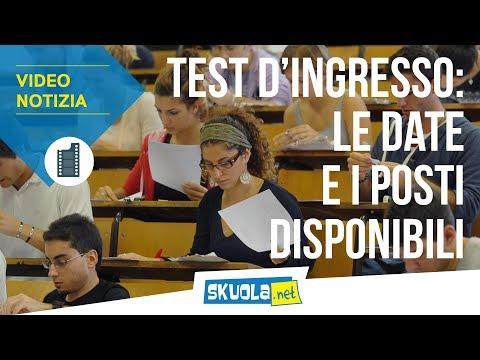 Test ingresso 2019: posti disponibili e date delle prove