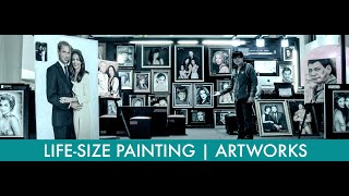 LIFE SIZE PORTRAIT PAINTING [ WILLIAM & KATE ] Art by - Melvin B.