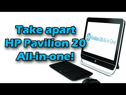 HP Pavilion 20 All-In-One teardown/take apart