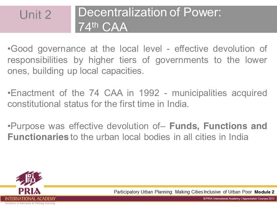 Pria: Participatory Urban Planning (Module 2)