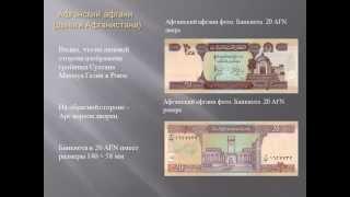 Афганский афгани (деньги Афганистана)