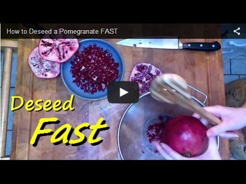 How to Deseed a Pomegranate FAST
