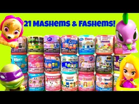 Huge 21 Mashems and Fashems! Paw Patrol, Teenage Mutant Ninja Turtles, Disney Princesses