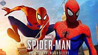Spider-Man PS4 - Spider-Verse Suit Free Roam Gameplay!
