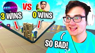 I Hosted a 1v1 Tournament with BAD PLAYERS in Fortnite (1 follower)