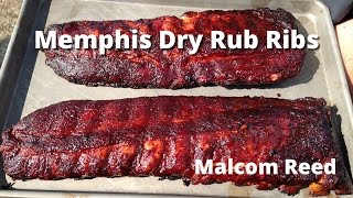 Memphis Style Rib Recipe | How to smoke Memphis Style Dry Rub Ribs Malcom Reed HowToBBQRight