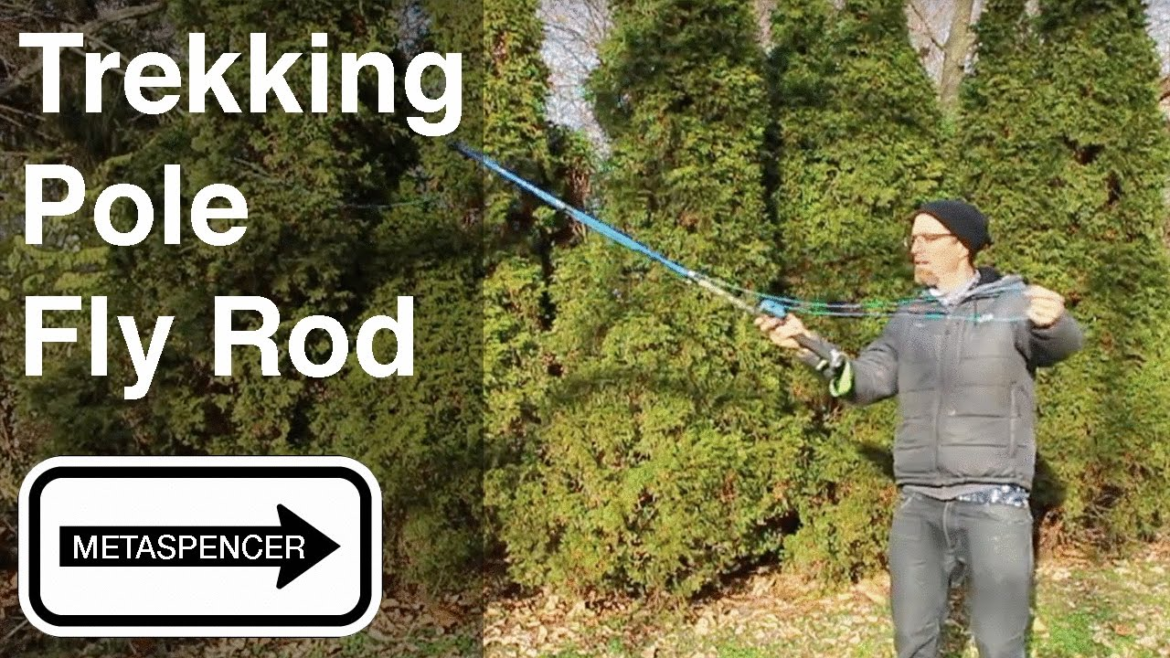 Diy trekking pole fly rod selfie stick youtube for Backpacking fishing pole