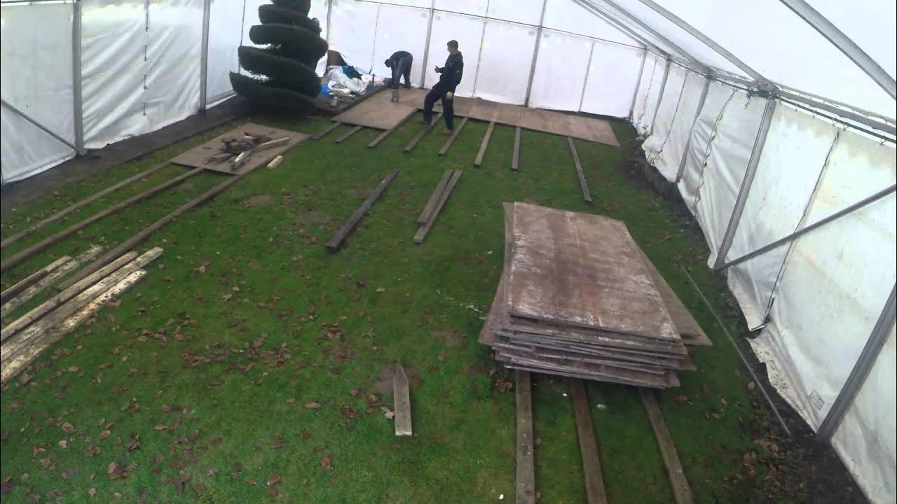 Marquee Flooring Timelapse 2014 Vicarage Marquees Essex