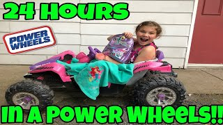 24 Hours Overnight In A Power Wheels! Poopsie Unicorn Slime Surprise