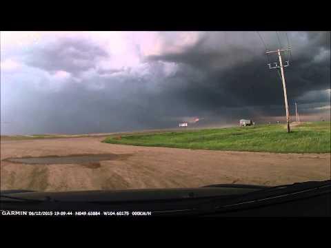 Storm Chase at Pangman, Saskatchewan, June 12, 2015