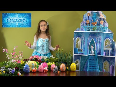 Princess Story: It is Easter and Frozen Princess Anna and Elsa Get Surprise Eggs from Easter Bunny