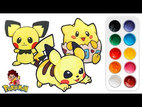 Draw Pikachu, Pichu & Togepi - Easy Art Tutorial thumbnail