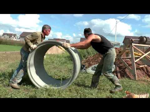 Дренажный колодец для отведения воды из септика Танк