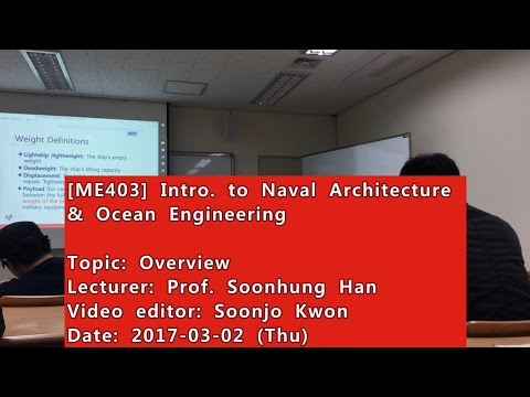 Introduction to Naval Architecture and Ocean Engineering : Overview