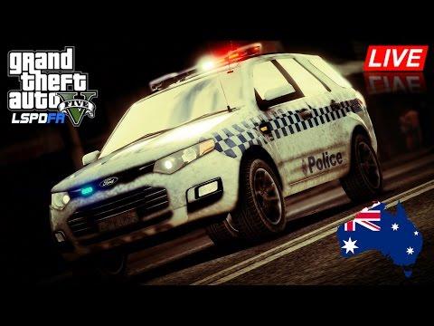 GTA 5 Australia - LSPDFR Police Mod - VICPOL Ford Territory patrol in Grapeseed #OZGTA