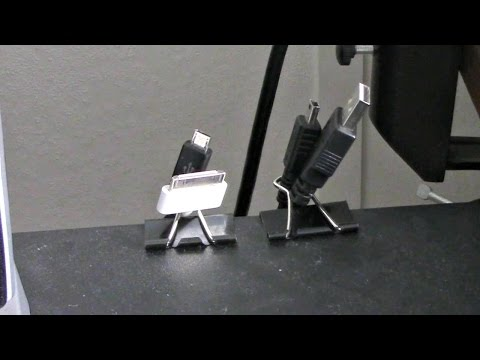 How To Keep Cables Neat With Binder Clips