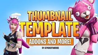FREE Fortnite Thumbnail TEMPLATE! [NEW] [+ADDONS] | AtmoArtworks