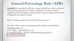 Lesson 3 video 1: Calculating APR for a loan or mortgage