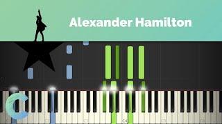 Hamilton - Alexander Hamilton Piano Tutorial
