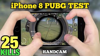 IPhone 8 PUBG Test 4 Finger Claw Gyroscope | Handcam Gameplay | PUBG MOBILE