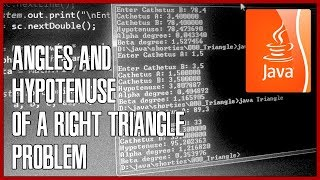 JAVA Programs - Hypotenuse of a right triangle