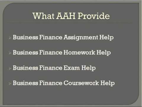 business finance assignment and homework help business finance assignment and homework help