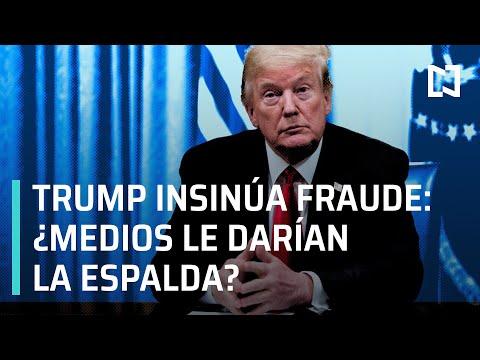 ¿Medios de comunicación rechazan denuncia de fraude electoral de Trump? - Las Noticias