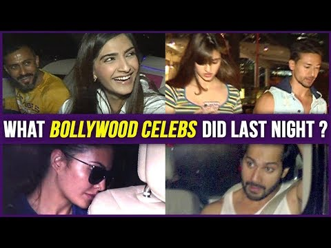 What Bollywood Celebs Did Last Night | Sonam & Anand, Varun Dhawan, Jacqueline Fernandez