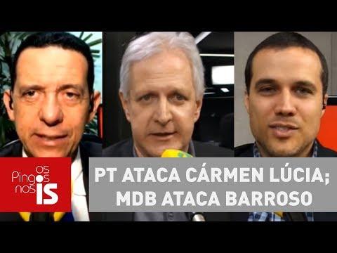 Debate: PT Ataca Cármen Lúcia; MDB Ataca Barroso
