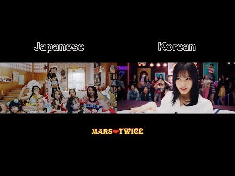 트와이스 TWICE - What is Love? (Korean & Japanese Ver.) MV Comparison【Full HD】