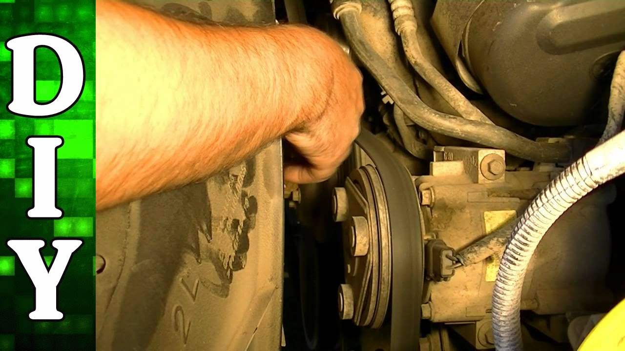 how to remove and replace a serpentine belt - 2002 ford f150 4 2l engine -  youtube