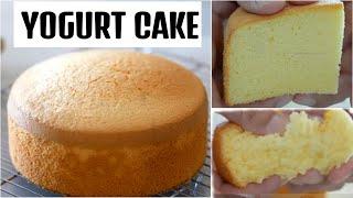 Yogurt Cake - Spongy Cake - Easy Recipe - Lemon Yogurt Cake