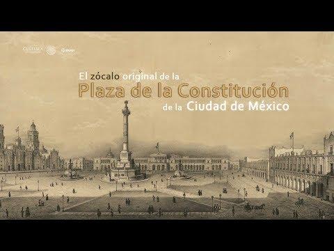 El zócalo original de la Plaza de la Constitución de la Ciudad de México