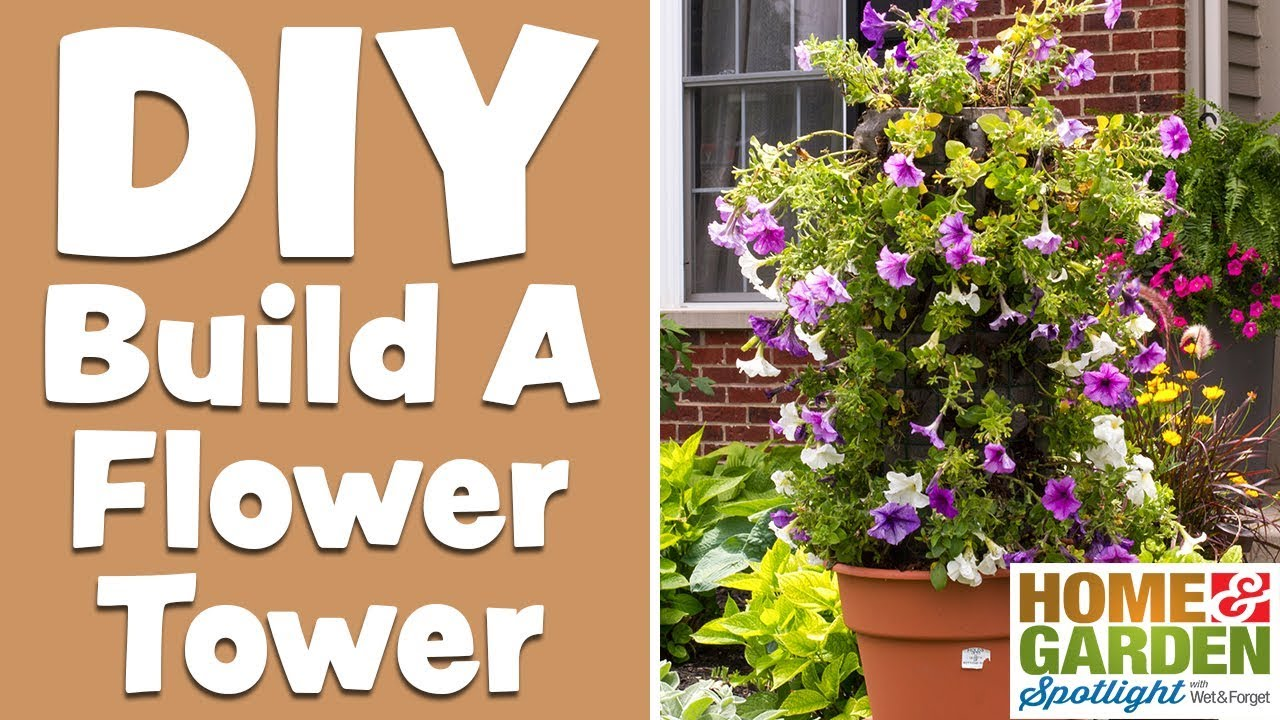 How to make a vertical flower bed for petunias do it yourself