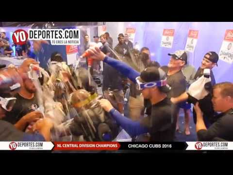 Chicago Cubs club house party National League Central Division Champions