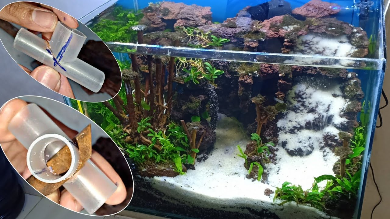 How To Make Aquascape Sand Waterfall Part 2 Youtube