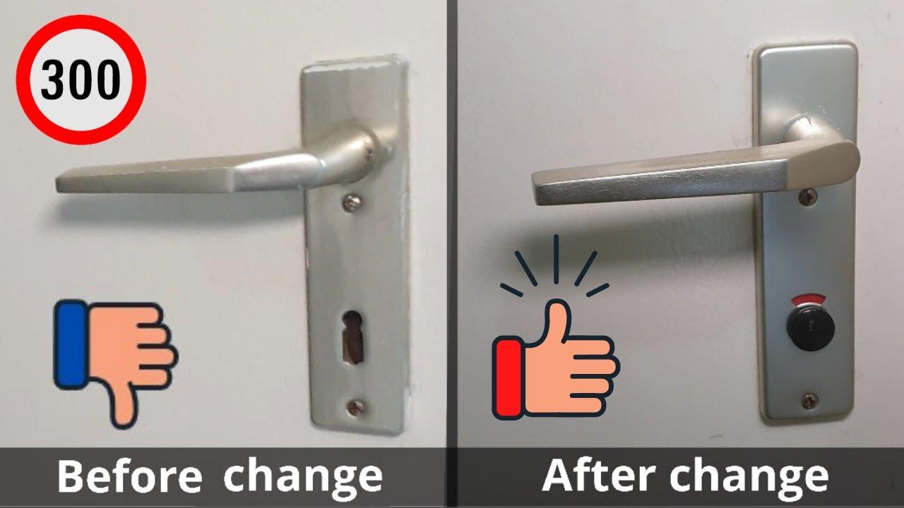 Badezimmer Türschloss wechseln