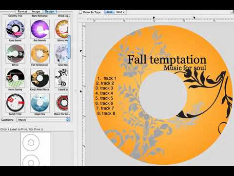 Mac CD/DVD Label Maker 2.1.0 for OS X - Professional CD/DVD Label Maker