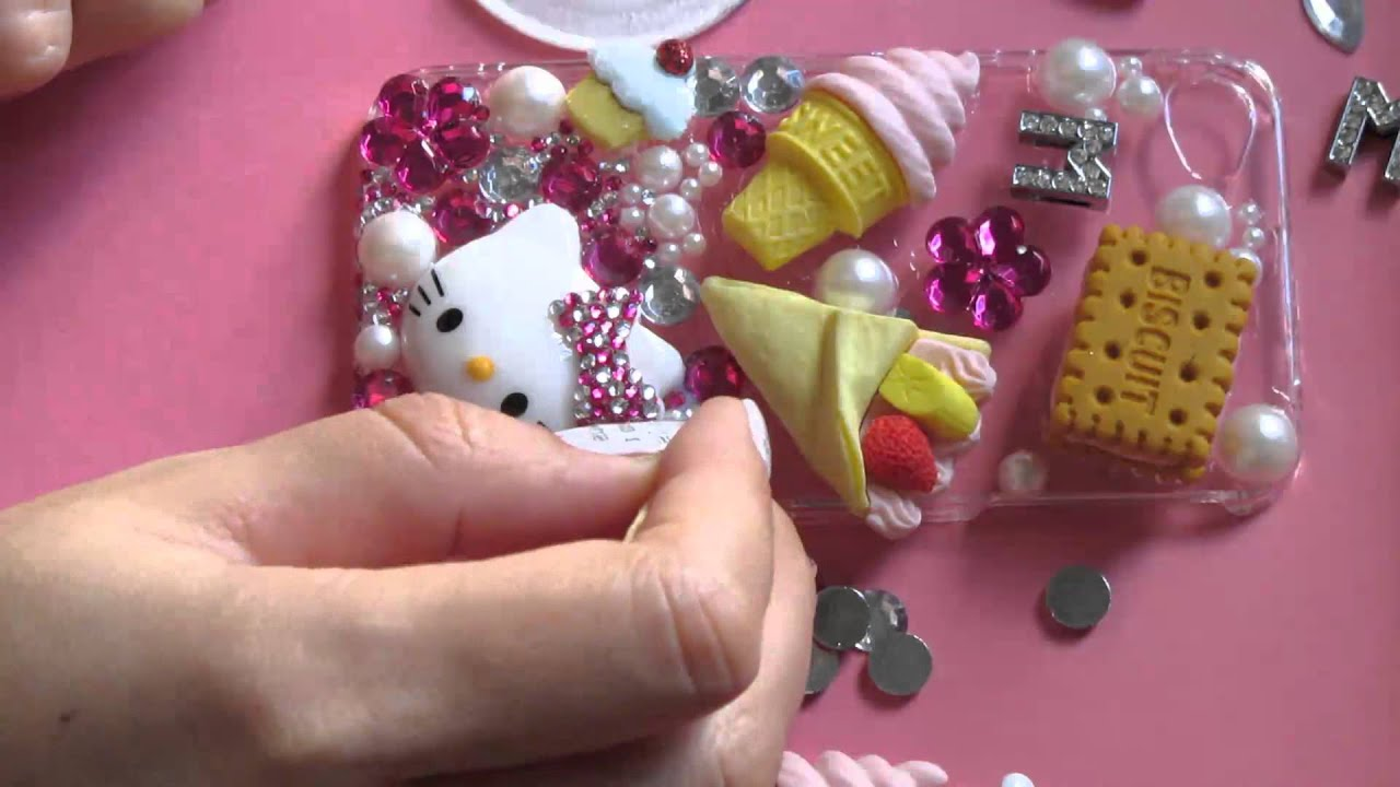 how to decorate a cell phone case youtube