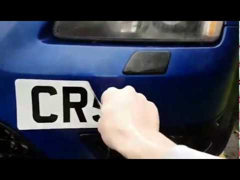 Bespoked removable number plate - customer & Bespoked removable number plate - customer - YouTube