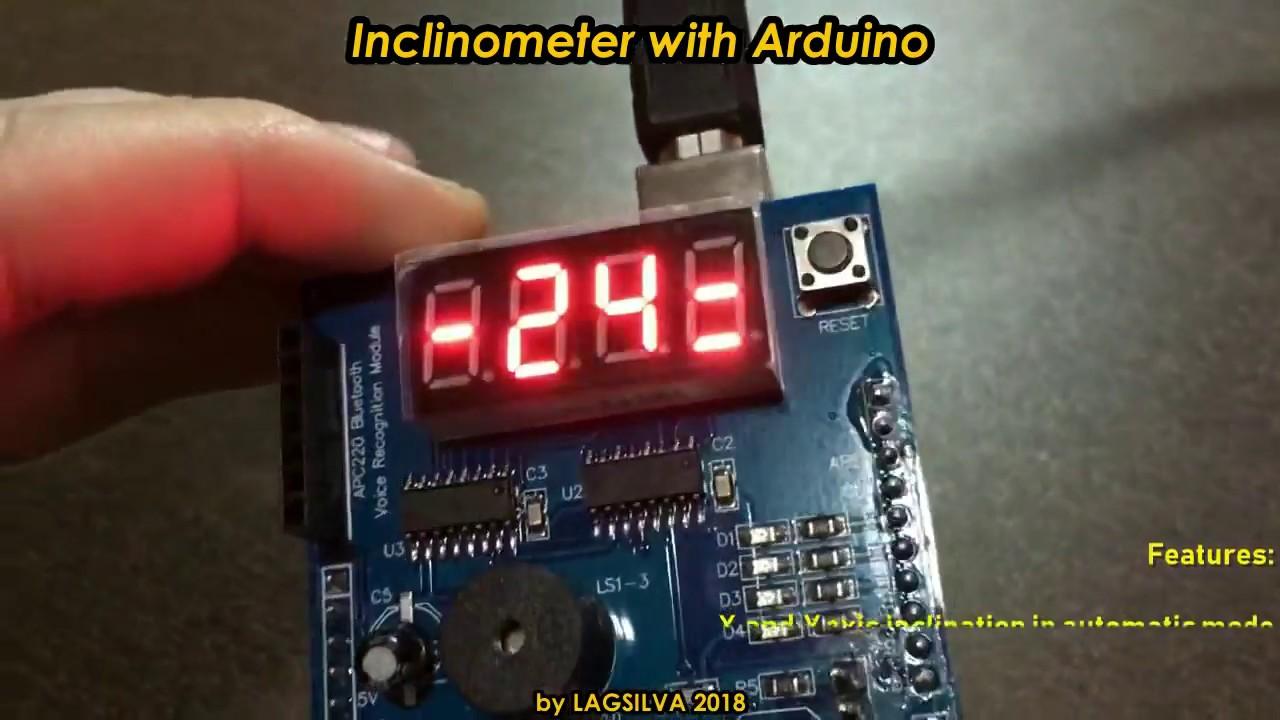 Simple Inclinometer with Arduino - Arduino Project Hub
