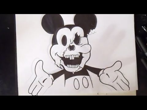 come disegnare topolino graffiti youtube. Black Bedroom Furniture Sets. Home Design Ideas