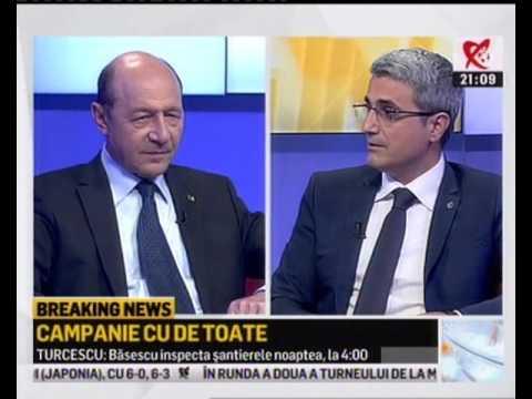 Traian Băsescu şi Robert Turcescu, la Realitatea TV