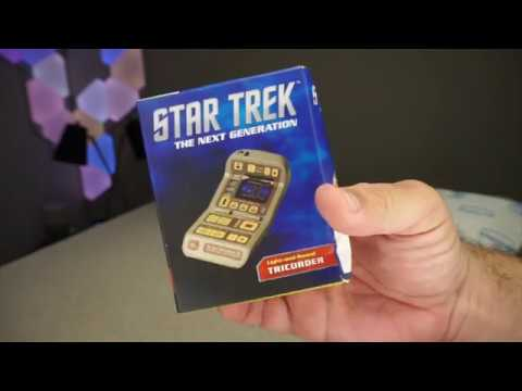 unboxing the star trek lights sounds tricorder youtube