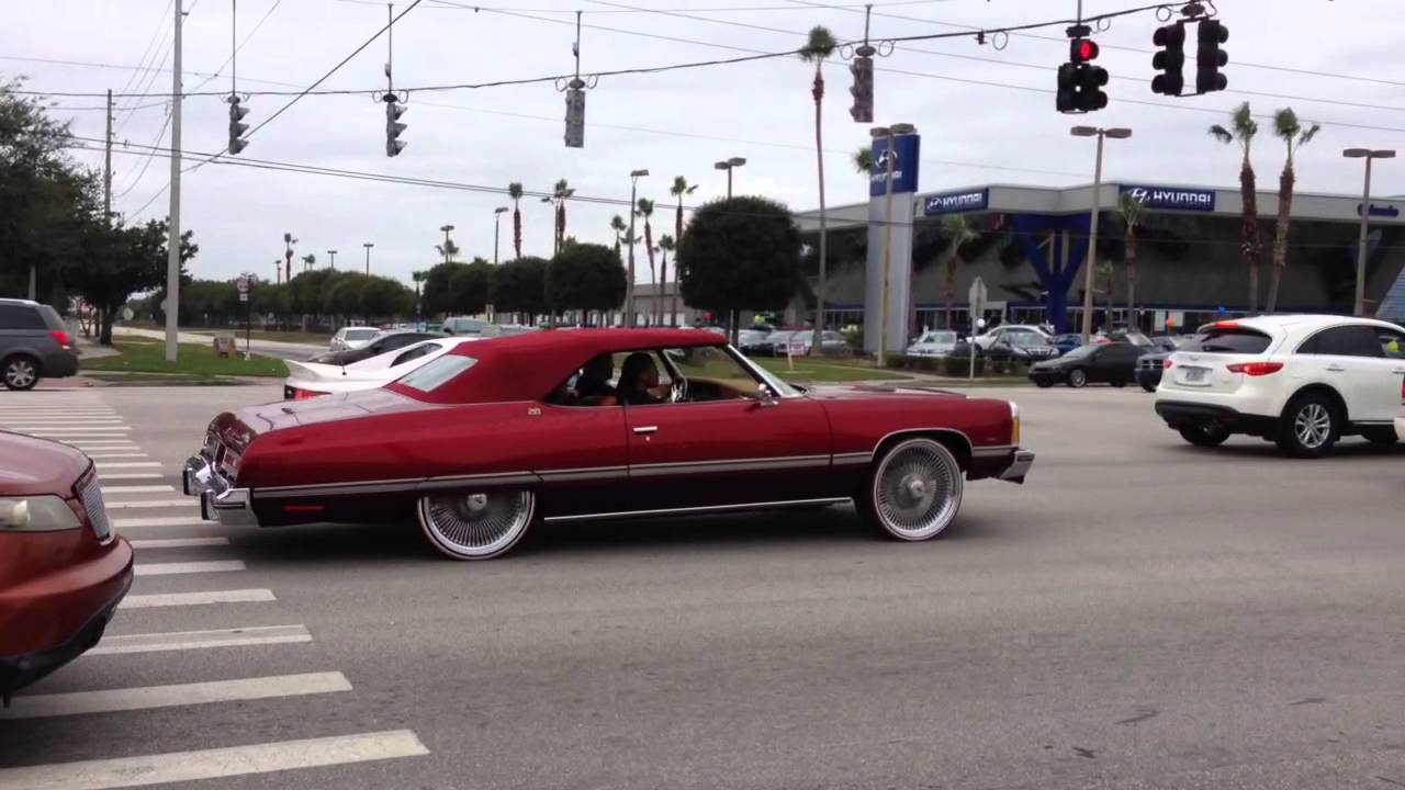 74 Caprice Convertible On 24 Quot Dayton S Amp Vogues Youtube