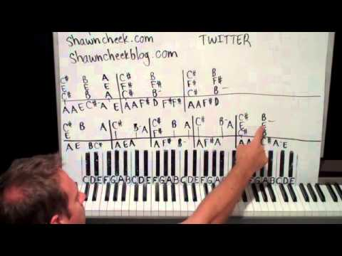 As The World Falls Down Piano Lesson Part 1 David Bowie Youtube