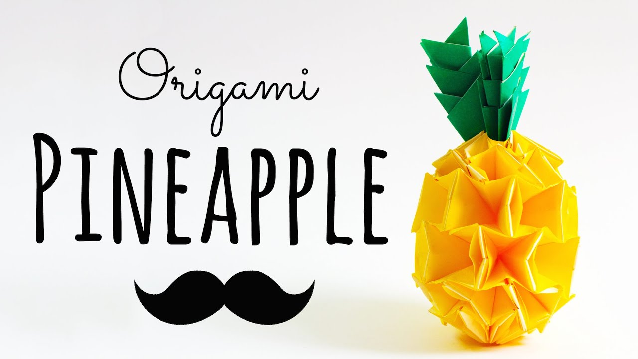 Papercraft Modular Origami Pineapple Instructions