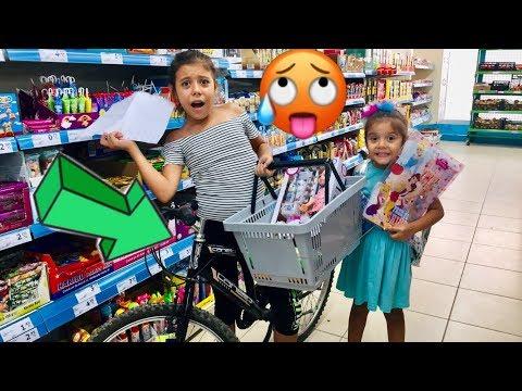 Bisiklet Ile Market Alışveriş Challenge | A101 Den Kovulduk Mu !! | Eğlenceli Çocuk Videosu Sevimli