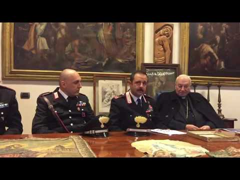 Riconsegna di oggetti sacri recuperati dai carabinieri for Oggetti sacri roma