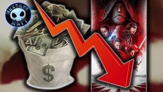 THE LAST JEDI's box office is 42% down from THE FORCE AWAKENS